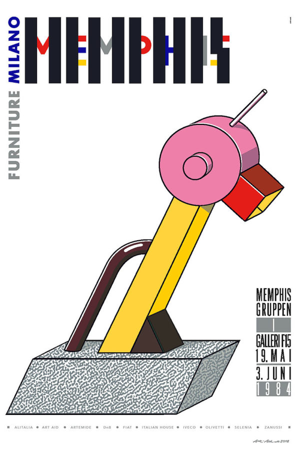 Memphis kunst plakat