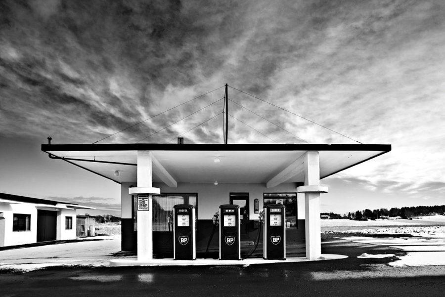 bilde av gammel BP stasjon